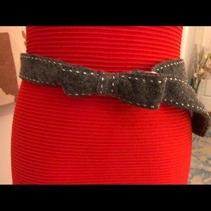 Anthropologie grey felt belt